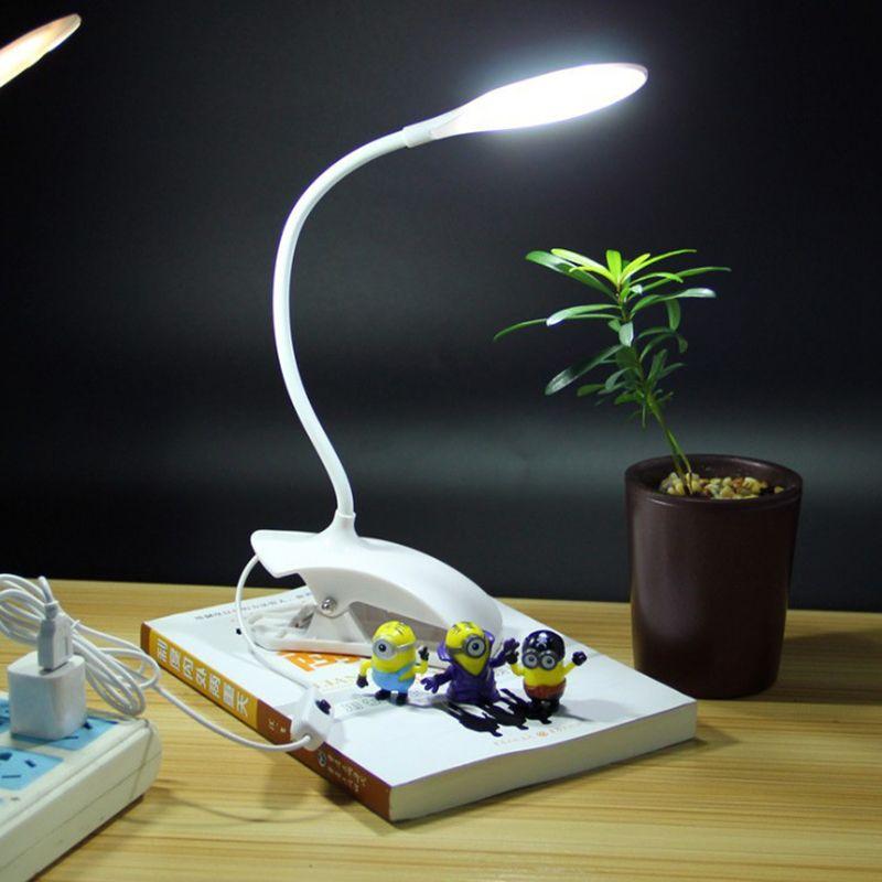 Neue LED Lesen Augenschutz Schreibtisch Lampe Einstellbare Helligkeit USB Aufladbare LED Schreibtisch Tisch Lampe Licht mit Clip Touch Schalter