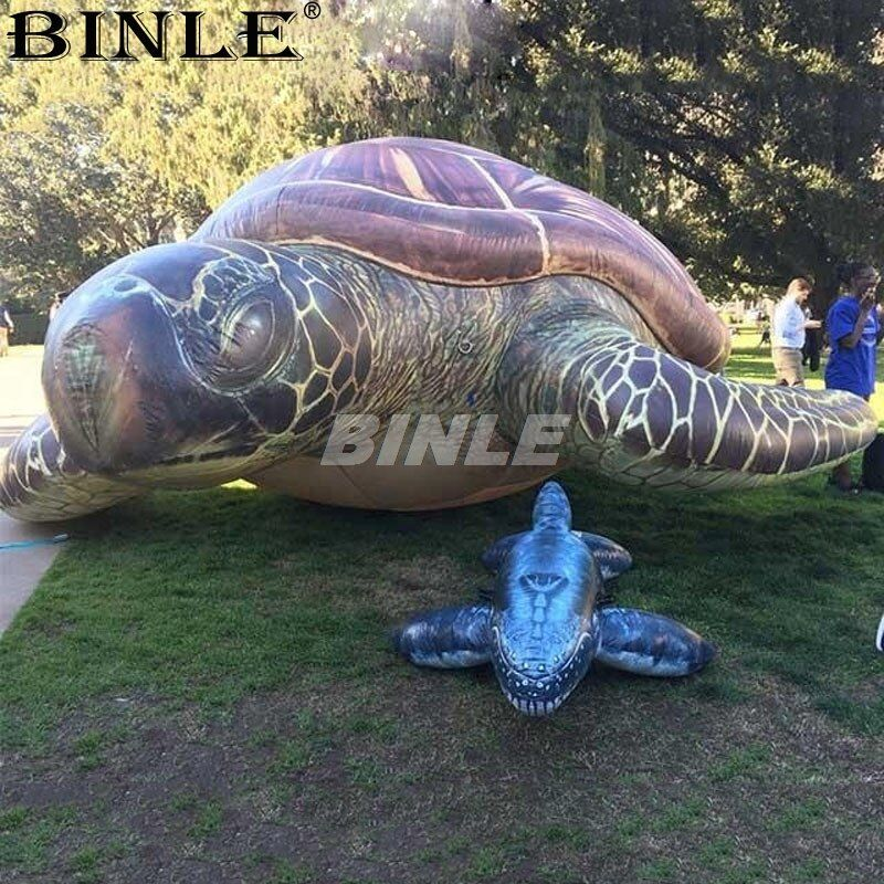Liftlike 3m 10ft outdoor cute giant inflatable sea turtle for ocean park activity