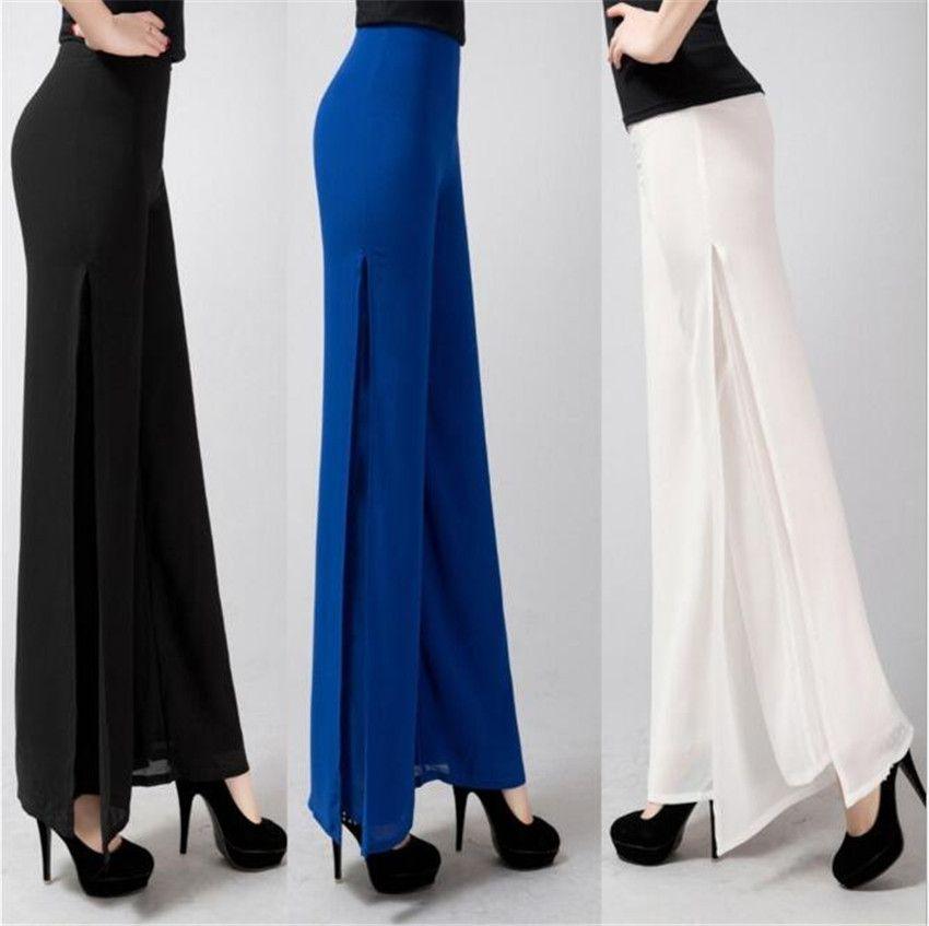 MLCRIYG 2017 spring summer new female Korean fashion waist drape wide leg pants pants