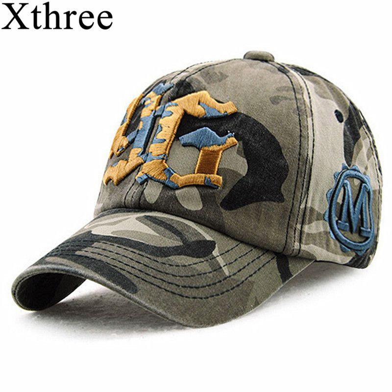 Xthree camouflage baseballkappe hysteresenhut für männer Kappe frauen gorra casquette knochen swag kappe Großhandel