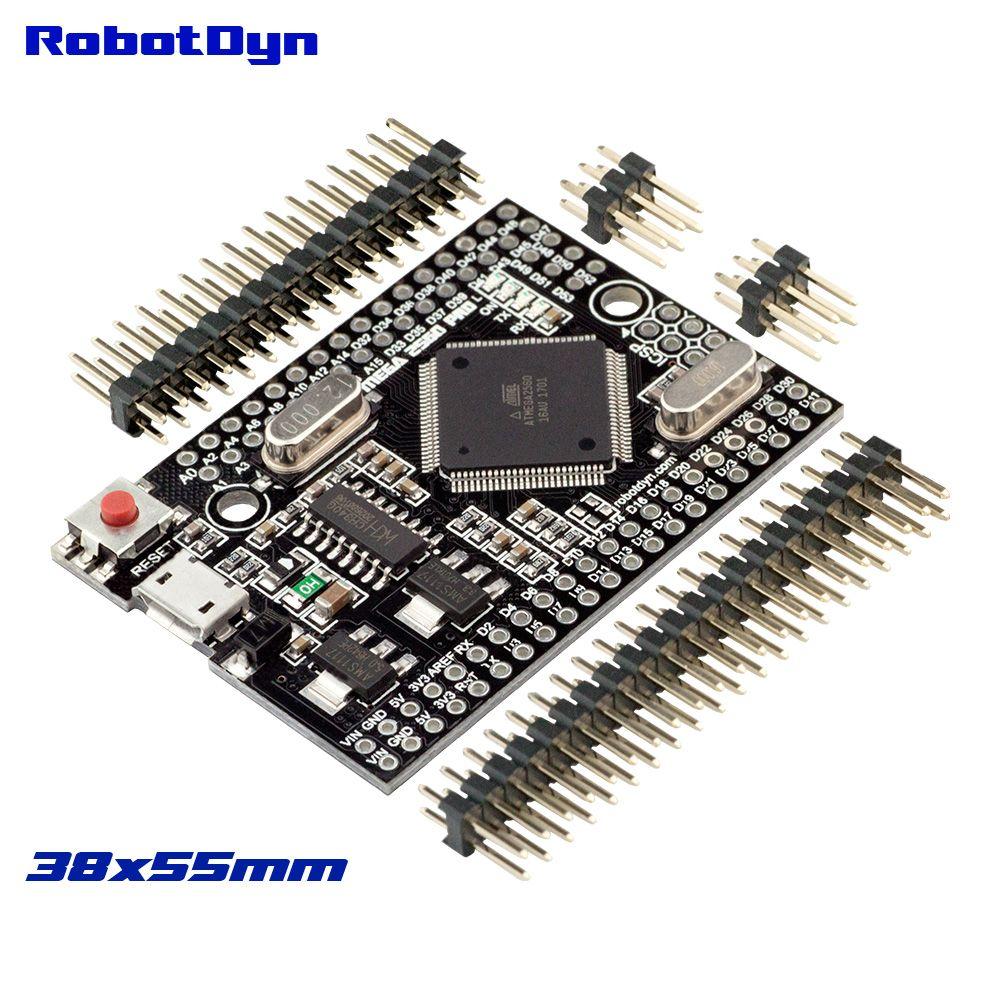 Мега 2560 Pro (код) CH340G/ATmega2560-16AU, с мужской pinheaders. Совместимый для Arduino MEGA 2560.