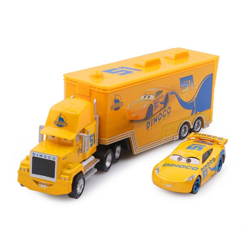 New Disney Pixar Cars 2 3 Lightning McQueen Cruz Ramirez Mack Uncle Truck 1:55 Diecast Model Car Toy Children Boy <font><b>Birthday</b></font> Gift