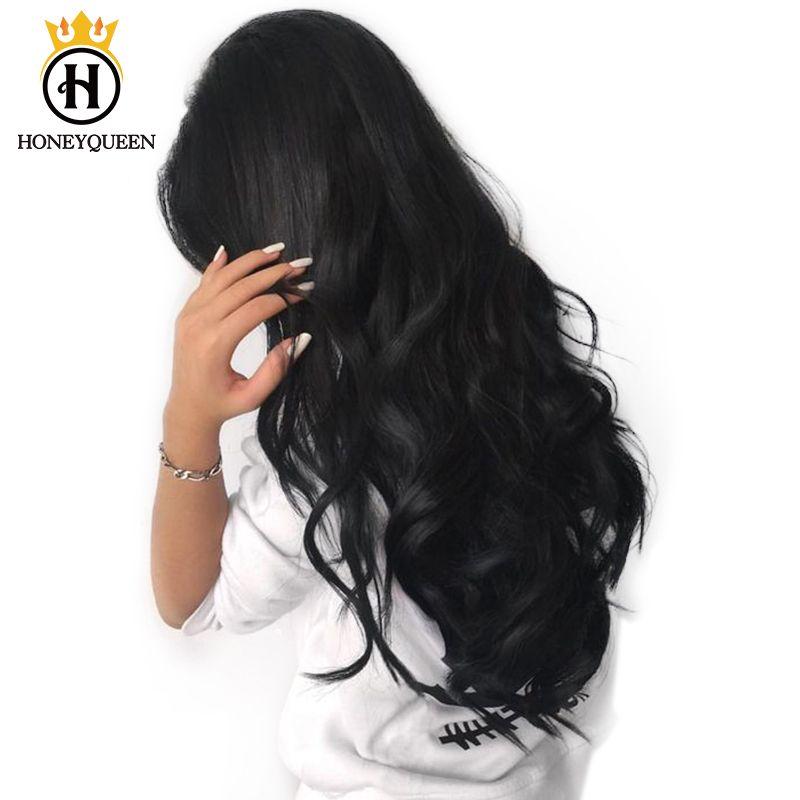 Avant de lacet de Cheveux Humains Perruques Fo Femmes 250% Densité Vague de Corps brésilienne Avant de Lacet Perruque Naturel Noir Miel Reine Remy Extrémités Complètes
