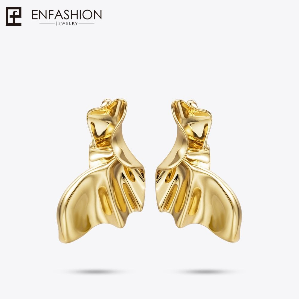 Enfashion Angel Wings Drop Earrings For Women Gold Color Boucle d'Oreille Fantaisie Earings Fashion Jewelry Oorbel EC181043