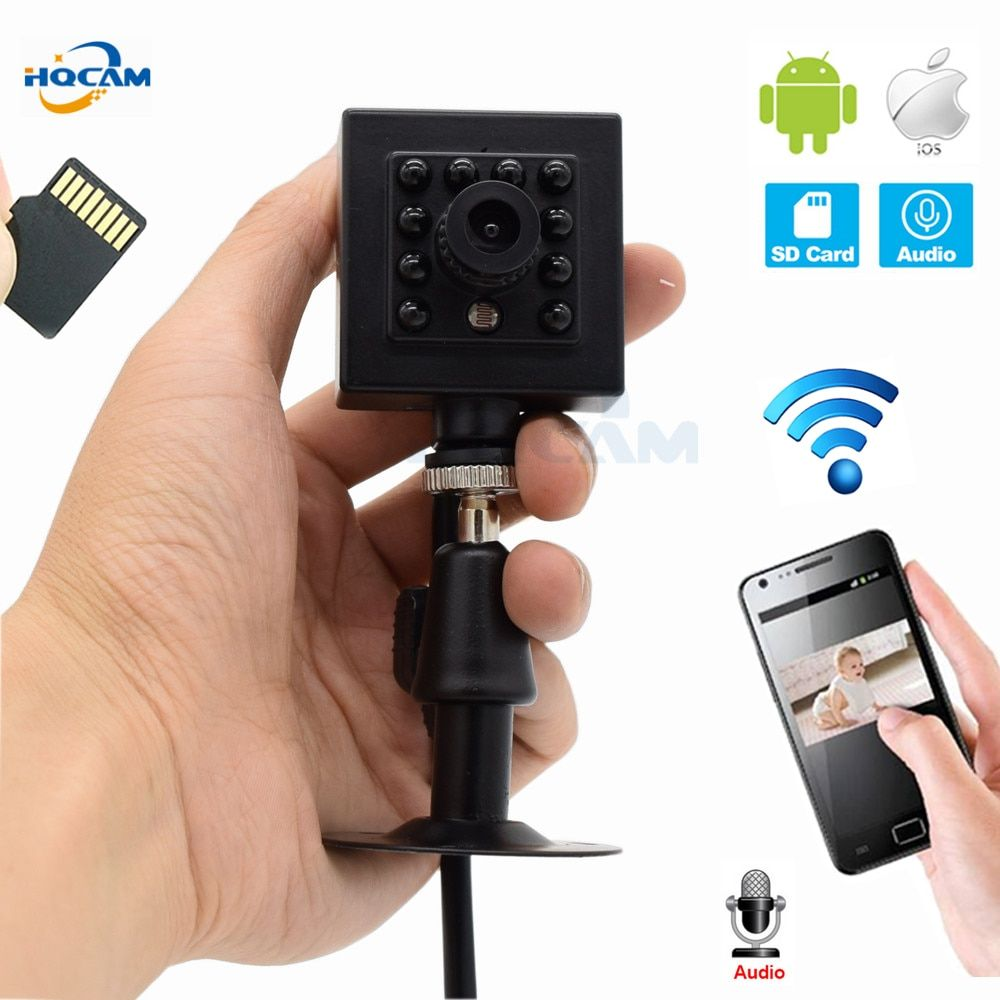 HQCAM WIFI TF Slot 720P 960P 1080P Indoor Onvif 2.1 Wireless IP Camera Invisible 10pcs 940nm IR LED Built-In MIC Restore camhi