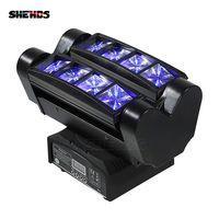 Envío rápido Mini LED haz araña 8x10 W RGBW cabeza móvil de iluminación LED de la etapa de luz para las Partes DJ Disco decoración de la boda