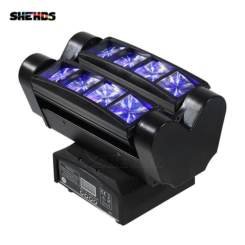 Expédition rapide Mini LED faisceau araignée 8x10W RGBW tête mobile éclairage LED lumière de scène bon pour les Parties DJ Disco décoration de mariage