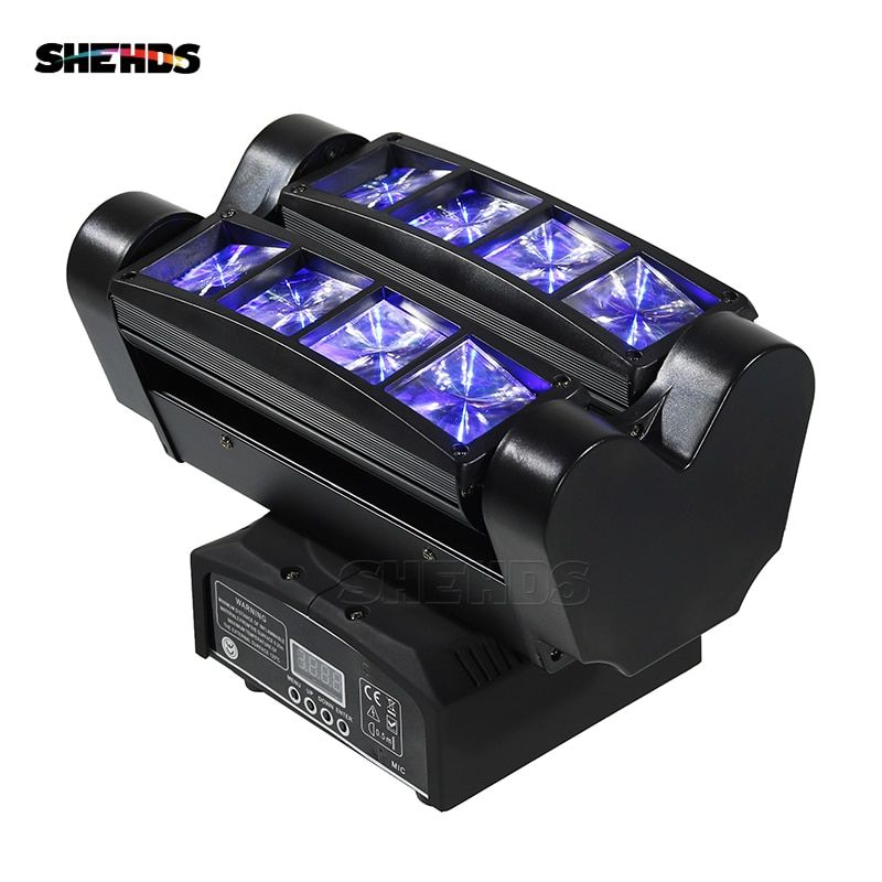 Fast Shipping Mini LED <font><b>Beam</b></font> Spider 8x10W RGBW Moving Head Lighting LED Stage Light Good For Parties DJ Disco Wedding Decoration