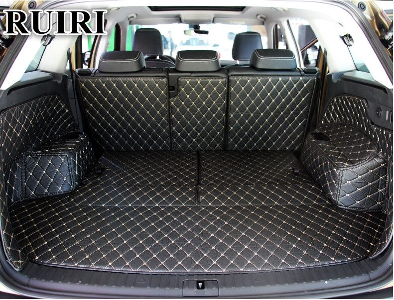 High quality! Special trunk mats for Skoda KODIAQ 7 seats 2018 waterproof cargo liner boot carpets for Kodiaq 2017,Free shipping