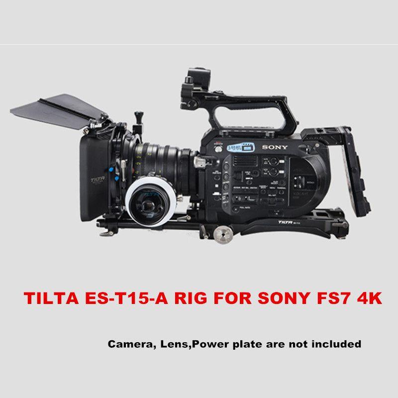 Tilta ES-T15-A FS7 RIG Grundplatte + Schulter Pad + 4*4 leichte matte box + FF-T03 Folgen fokus für sony FS7 4 karat kamera