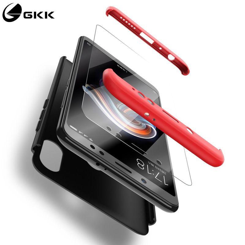 GKK Case for Xiaomi Redmi Note 5 Plus Mi 8 Lite 9 SE Note 7 Pro Case 360 Full Protection Redmi 4X 6 Pro S2 Y2 Pocophone F1 Cover
