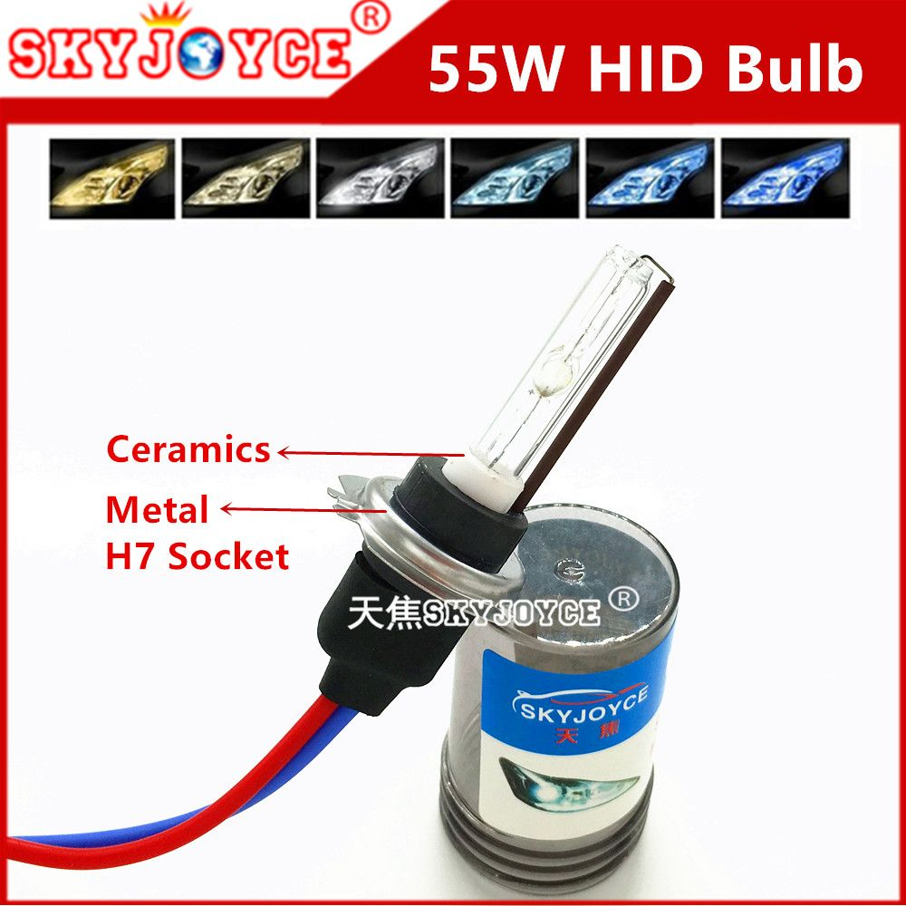 Автомобиль внешний свет SKYJOYCE AC 55 Вт H7 металлическое основание H3 3000 К керамические H11 5000 К 10000 К 8000 К 6000 К 9005 9006 880 H1 4300 К HID лампы