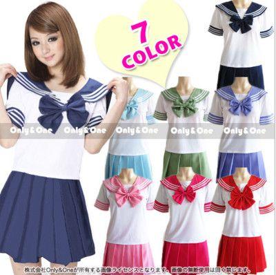 2018 nouveaux uniformes scolaires japonais marins hauts + cravate + jupe marine style étudiants vêtements pour fille grande taille Lala Cheerleader vêtements