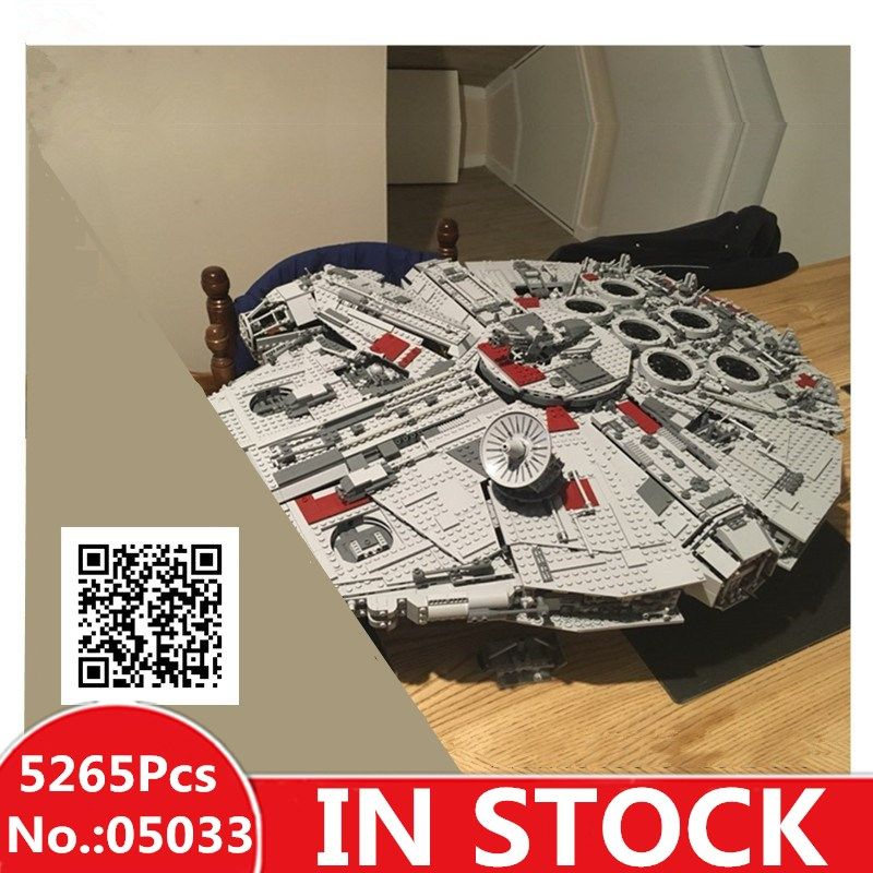 IN STOCK H&HXY 05033 5265Pcs Star Ultimate LEPIN Collector's wars Toy Millennium Model Falcon Building Blocks Bricks Gift 10179