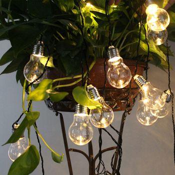 POTENCO Solaire Alimenté Led Jeu de Lumières Avec 10/20LED Globe G50 Ampoules Pour L'éclairage Extérieur Suspendus Rue Jardin Fée lumières