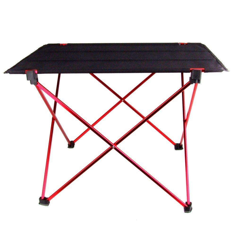 Offre spéciale Portable pliable Table pliante bureau Camping pique-nique en plein air 6061 en alliage d'aluminium Ultra-léger bureau pliant