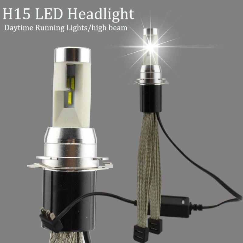 R4S H15 LED Phares Feux de jour/haute faisceau 30 W Voiture Phares 4800LM 6000 K Ampoule TX Automobile puce Kit de Conversion
