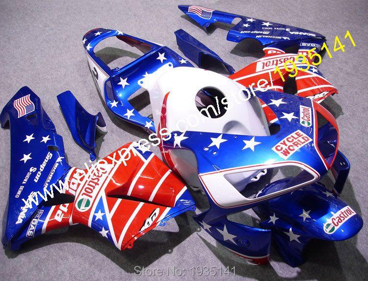 Ganze Set Für Honda CBR 600 RR F5 2003 2004 CBR600RR 03 04 USA Sterne ABS Motorrad Verkleidung Kit (spritzguss)