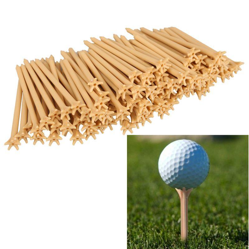 Großhandel 100 Teile/paket Professionelle Reibungs Kunststoff Golf Tee Weizen Golf Euipment Zubehör BHU2