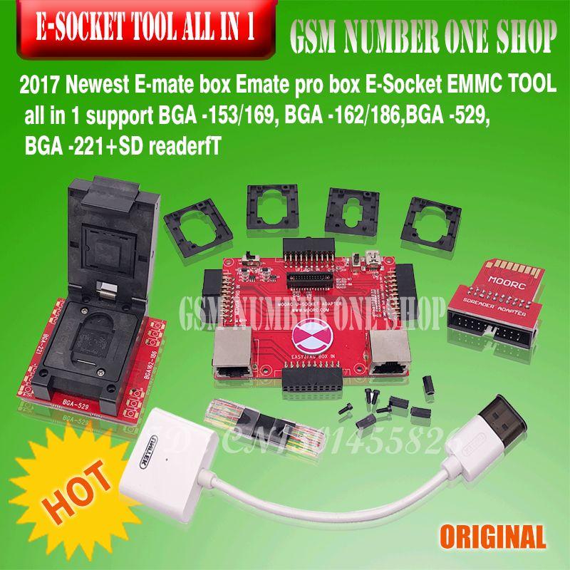 All In one E-Mate Pro E MATE PRO BOX E-Socket SUPPORTS BGA -153/169, BGA -162/186, BGA -529, BGA -221 CHIP for Riff Box