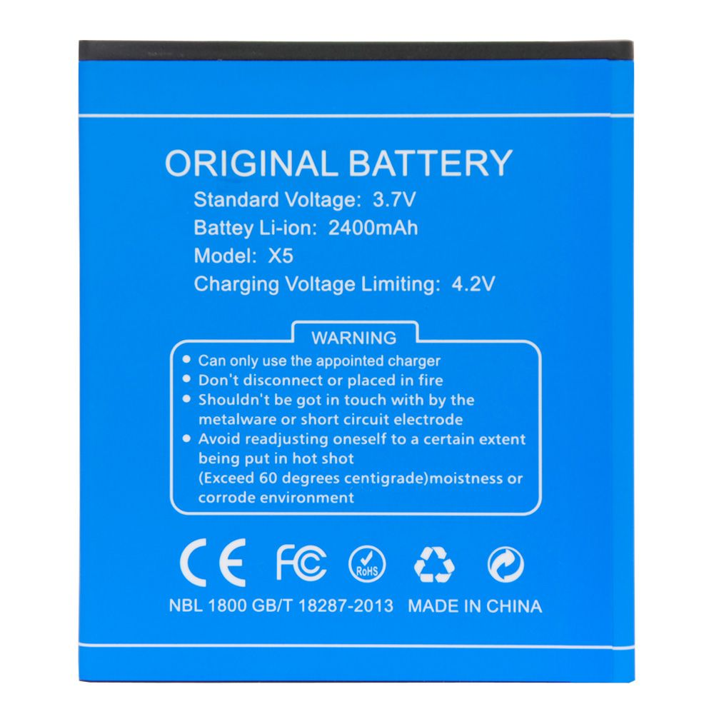 Original-akku für DOOGEE X5/X5 Pro 2400 mAh Batterie für DOOGEE X5/x5 Pro Smartphone Ersatz