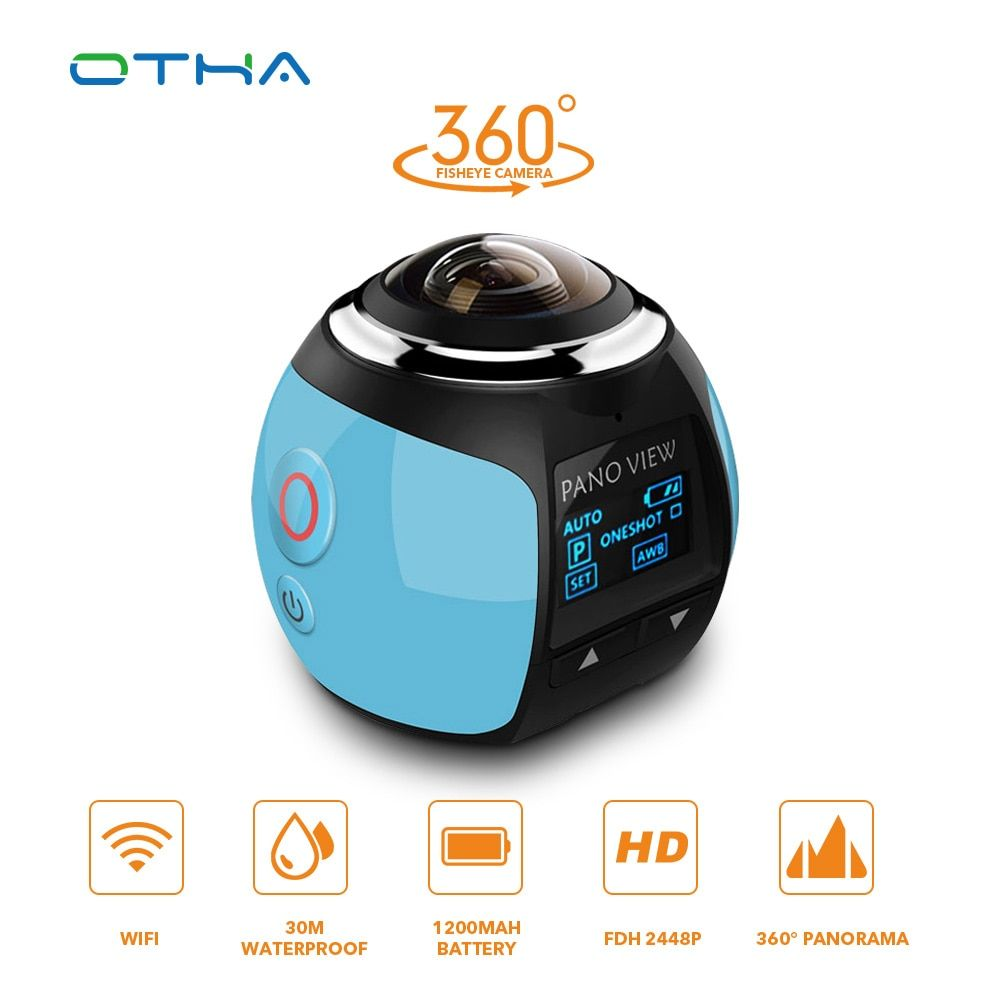 OTHA 360 Camera Ultra HD 4K Panoramic Camera Build in WI-FI 360 Degree Video Camera Waterproof Sport & Action Driving VR Camera