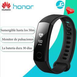 [Versión de español]Pulsera inteligente Huawei Honor Band 3 Android seguimiento actividad tiempo real fitness monitorización frecuencia cardiaca tiempo real sumergible 5ATM para natación para Android e iOS