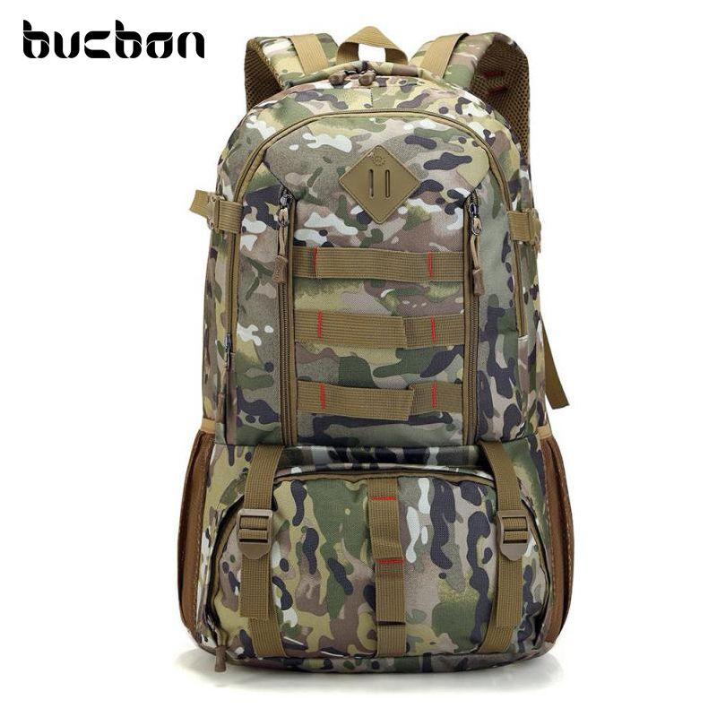 Bucbon Camo sac à dos tactique armée militaire Mochila 50L imperméable randonnée chasse sac à dos sac à dos touristique sac de sport HAB037