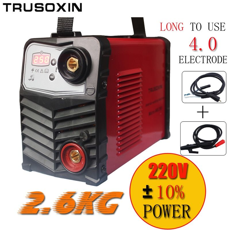 Micro ARC250 stick welder Protable IGBT inverter DC MMA welding machine/equipment/tools with earth clamp and hand holder