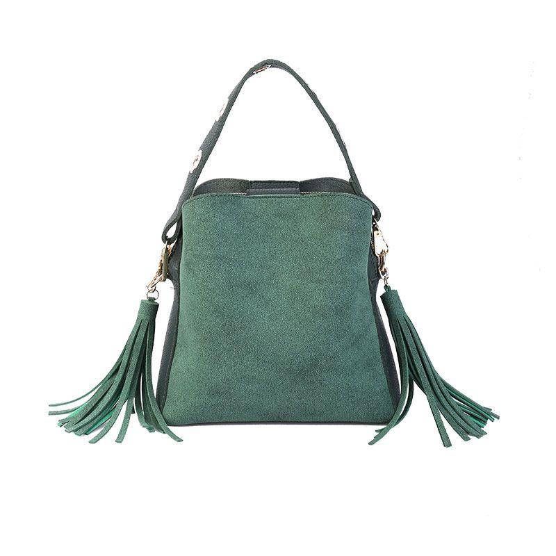 MARFUNY Brand Tassel Shoulder Bags Handbags Women Scrub Daily Bag For Girls Schoolbag Female Crossbody Bags New Bucket Sac