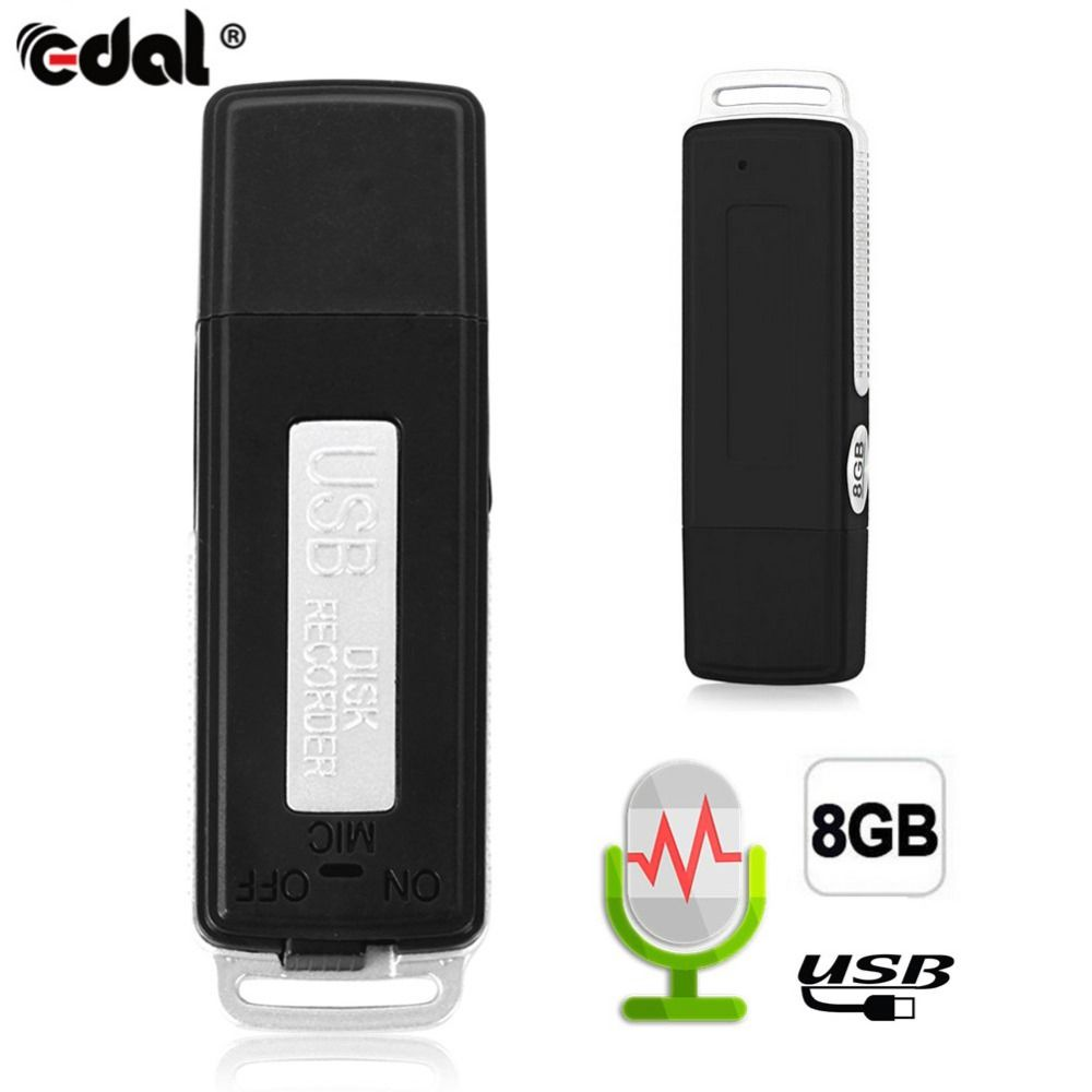 EDAL Mini 8GB USB Recording Pen Flash Drive Disk Digital Audio Voice Recorder 70 Hours Portable Mini Recording Dictaphone