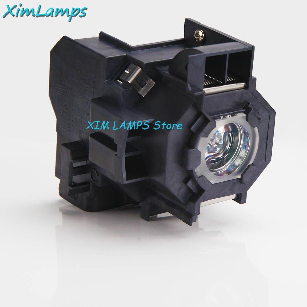 ELPLP41 Ersatz Projektorlampe mit Gehäuse Für Epson PowerLite S5 PowerLite S6 77C 78 EMP-S5 EMP-X5 H283A HC700 V13H010L41