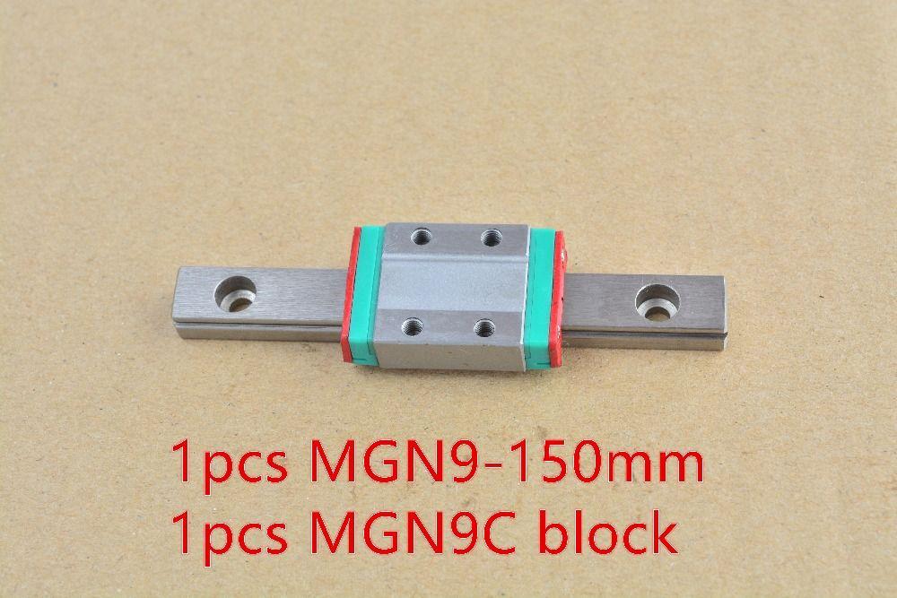 MR9 9mm guide de rail linéaire MGN9 longueur 150mm avec MGN9C ou MGN9H guide de mouvement linéaire miniature voie 1 pièces