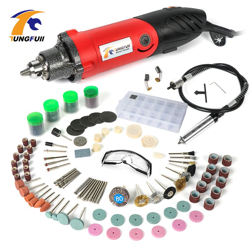 Tungfull Electric Drill Mini Drills Rotary Grinder Tool Drilling Machine Flexible Flex Shaft Dremel Accessories For Rotary Tools