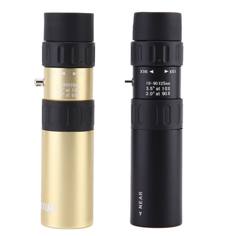telescope Zoom Lens Sports High Power 10-90x25 Monocular Telescope For Hunting Camping Spotting Scope Hunting Scopes Binoculars