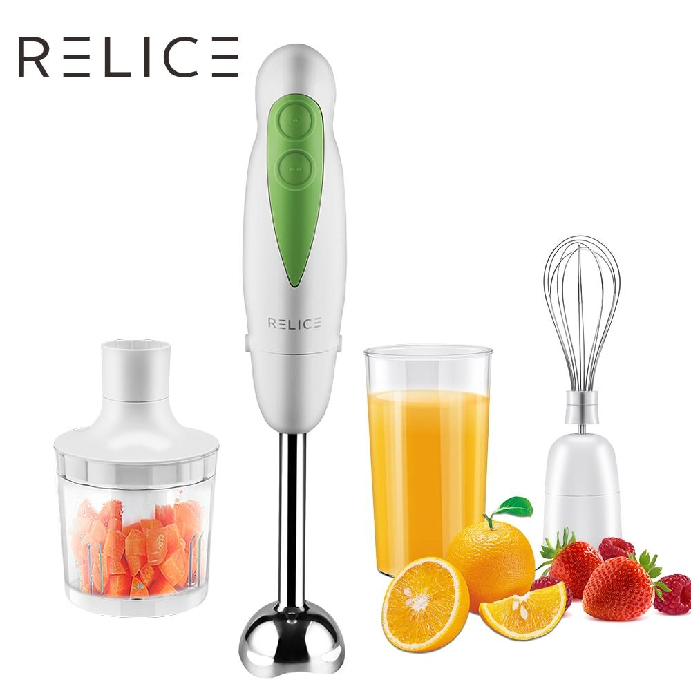 RELICE Handheld Blender Suit With Chopper Whisker Cup Multi <font><b>Functional</b></font> Electric Blenders Fruit Vegetable Hand Mixer For Kitchen