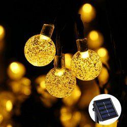 Nueva 20 LEDs 5 M bola de cristal lámpara solar de energía led cadena luces de hadas guirnaldas solares jardín decoración de Navidad para al aire libre