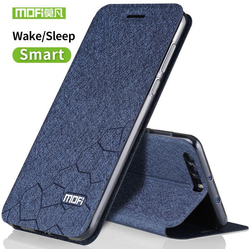 Huawei honor 9 silicon cover case de luxe flip en cuir d'origine mofi Huawei honor 9 cas 5.15 transparent tpu retour métal fundas