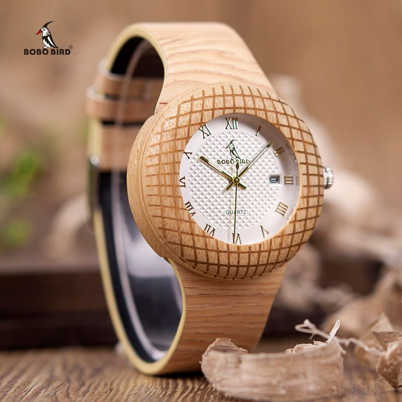 BOBO BIRD Wooden Quartz Watch Men Women Timepieces Leather Band Wristwatches for Gifts In Wooden Box W-iQ17 DROP SHIPPING