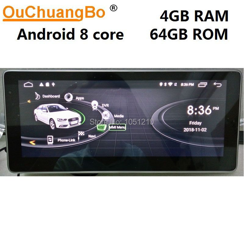 Ouchuangbo Android 9.0 media player radio gps navigation für Q7 2006-2015 mit 10,25 zoll 8 core 4GB + 64GB