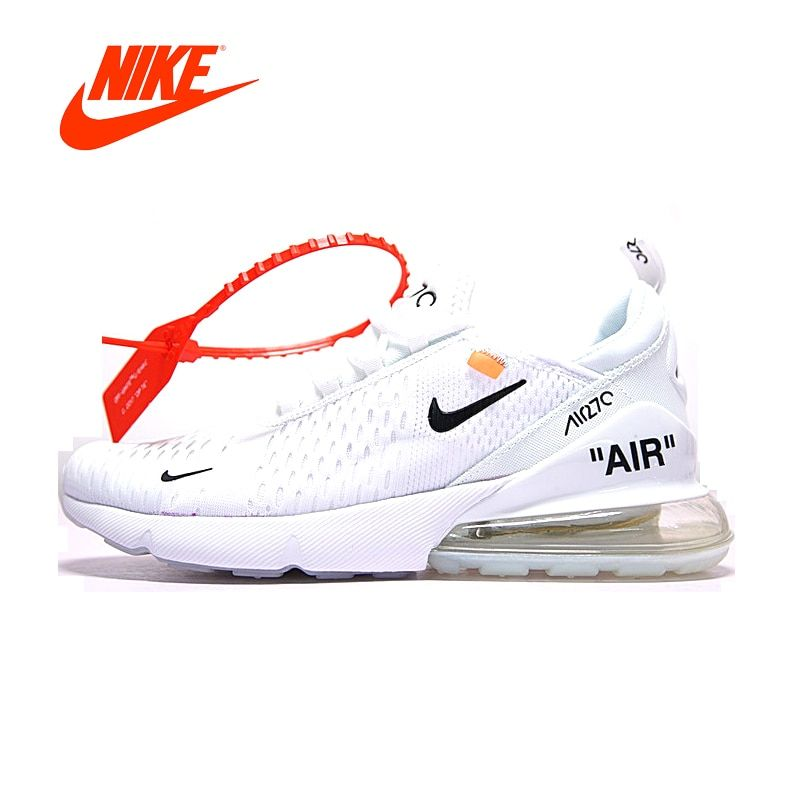 Original New Arrival Official Nike Air Max Breathable Cushion Sports Shoes White Black Men's Running Shoes AH8050-100