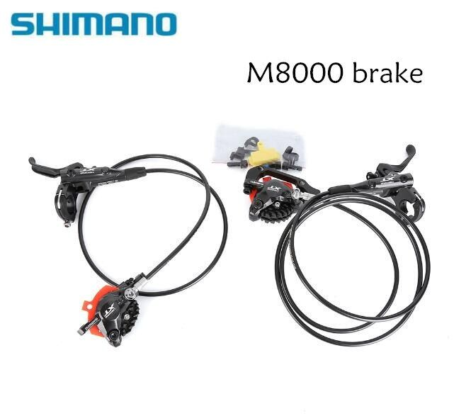 Shimano Deore XT M8000 Hydraulic Brake set J02A Ice Tech front and rear for mtb bike parts Free shipping