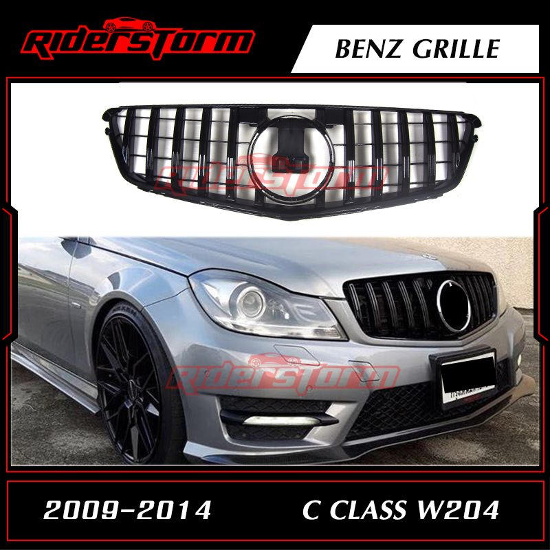 For W204 AMG GT GTR Grille for Mercedes C Class racing grille C180 C200 C250 C300 2009-2014
