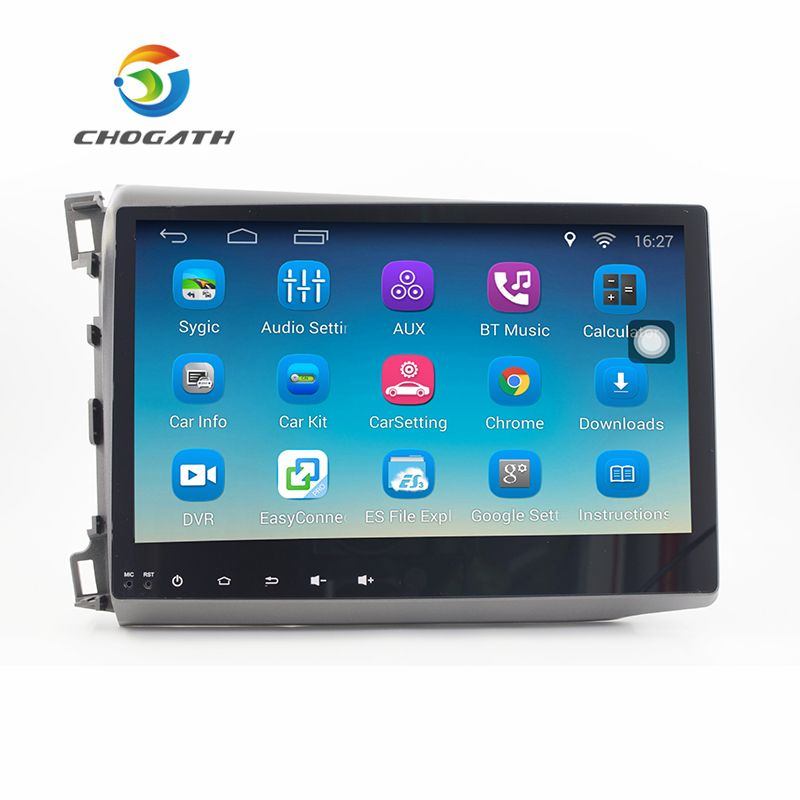 ChoGath 10.2'' 1.6GHz Quad Core RAM 1GB Android 6.1 Car Radio GPS Navigation Player for Honda Civic 2012-2015 with Canbus