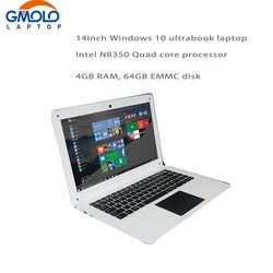 14inch Laptop PC Computer Notebook Windows10 Qual Core In-tel Atom X5-Z8350 4G 64G EMMC Wifi Webcam PC Tablet
