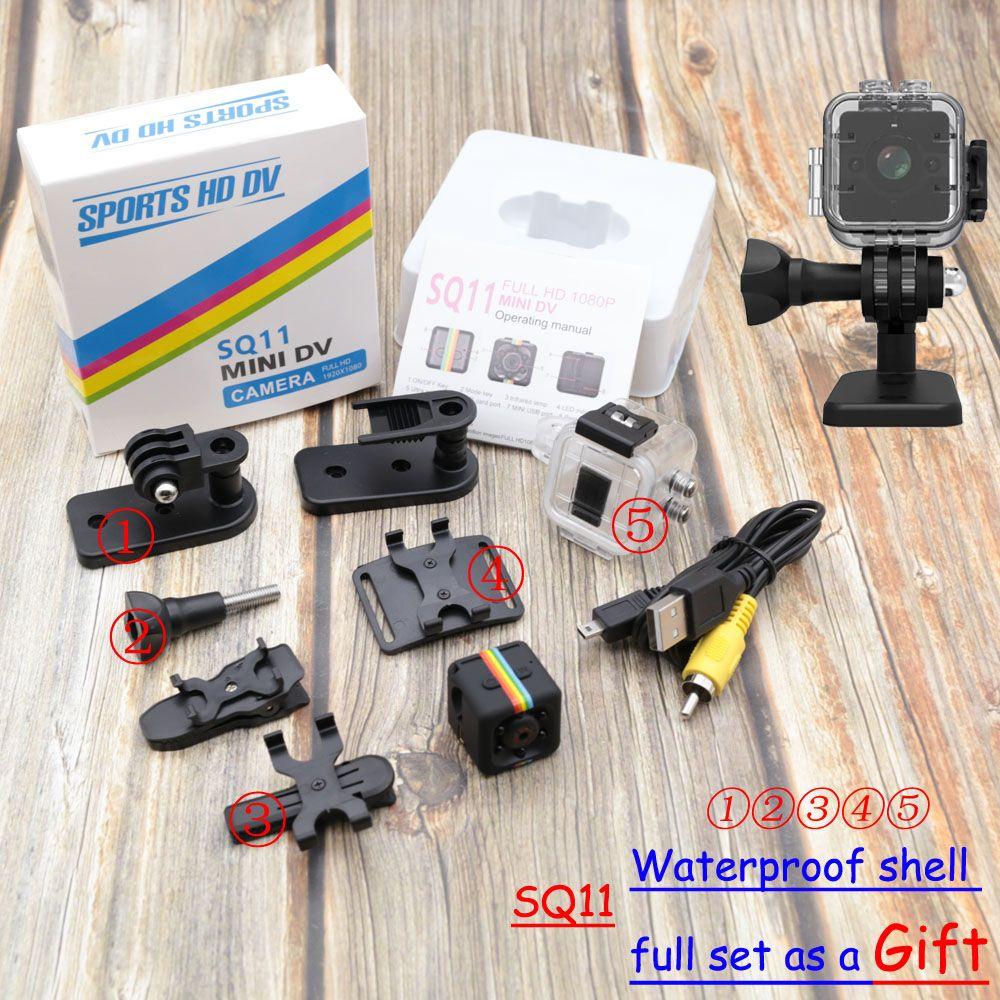 SQ11 SQ12 SQ10 mini-kamera Wasserdicht grad weitwinkel objektiv HD 1080 P Weitwinkel SQ 12 MINI Camcorder DVR SQ 11 Sport video cam