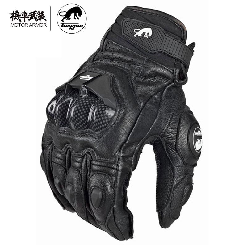 Furygan Summer Men's Breathable AFS6 Motorcycle Gloves Racing Leather Guantes Carbon Knukle Protection Gants Moto Black White