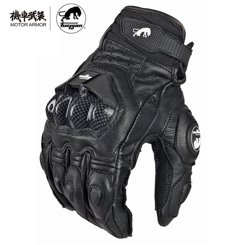 Furygan Winter Men's Breathable AFS6 Motorcycle Gloves Racing Leather Guantes Carbon Knukle Protection Gants Moto Black White
