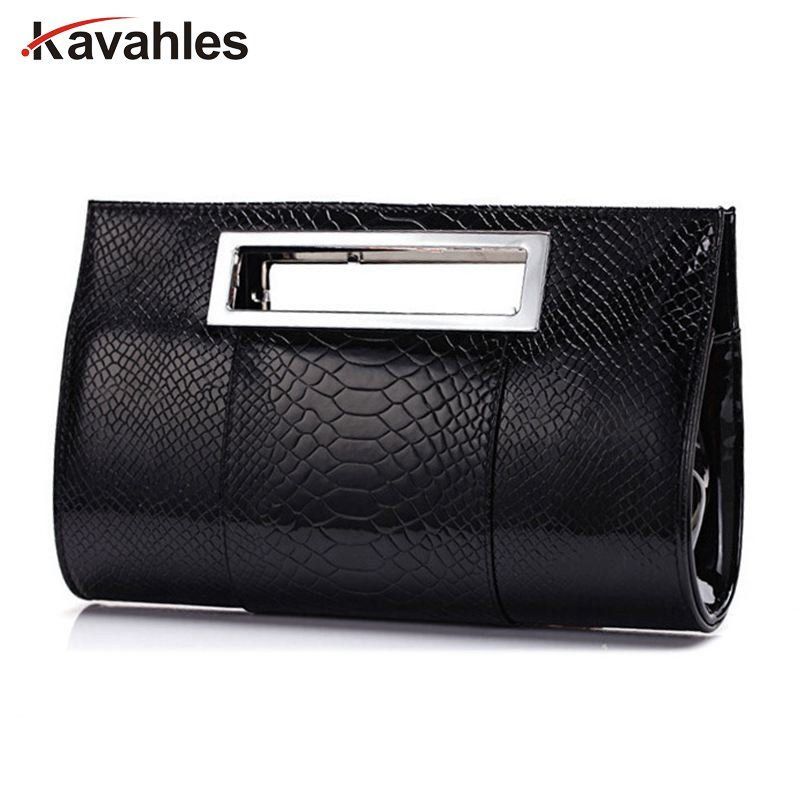 2018 Women PU alligator Leather handbag famous brand lady party evening day clutches tote bag shoulder bag with belt  A40-242