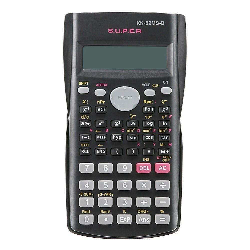 Handheld multifunktions 2 Linie Anzeige Wissenschaftlicher Taschenrechner 82MS-A Tragbare Multifunktionale Rechner für Mathematik Lehre